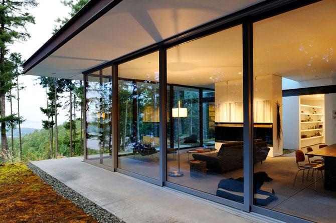 Красивые дома с панорамными окнами фото