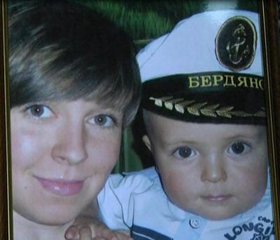 Юлия Давыдова с сыном Марком