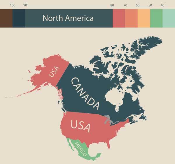 Северная Америка (фото: visualcapitalist.com)