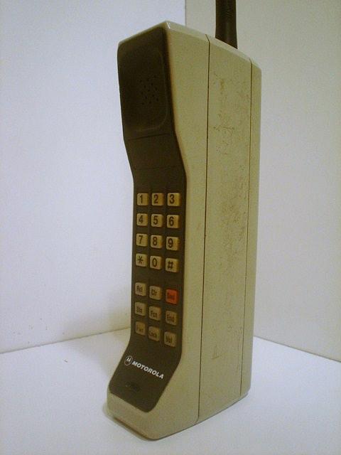 Фото первого мобильного телефона