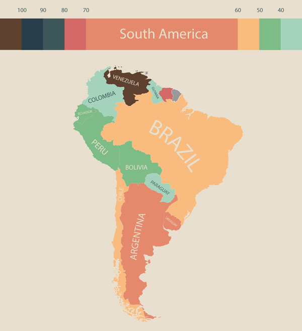 Центральная и Южная Америка (фото: visualcapitalist.com)