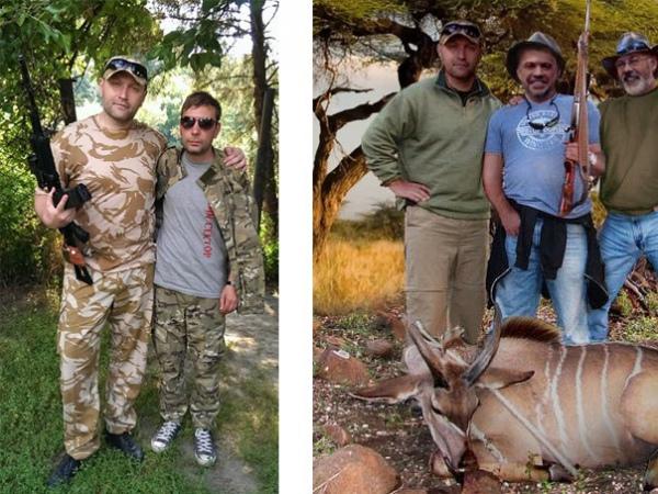 То самое фото. Справа - ''охота'', слева - фотография, с которой ''вырезали'' голову Березы.