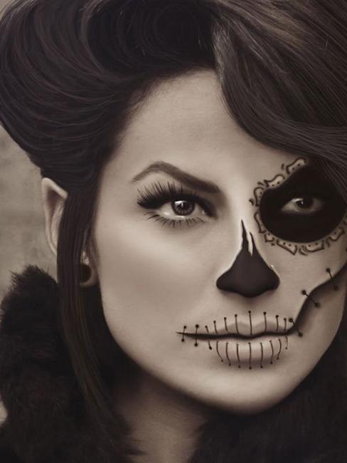 Как нарисовать такой грим на лице? и какую косметику использовать?