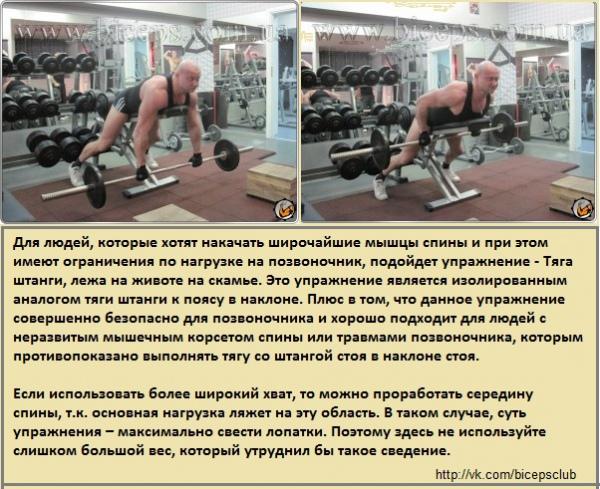 Как накачать мышцы без нагрузки на позвоночник