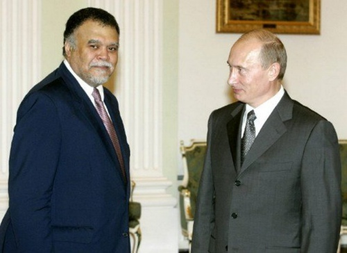 Бандар бин Султан во время скандального визита в Москву