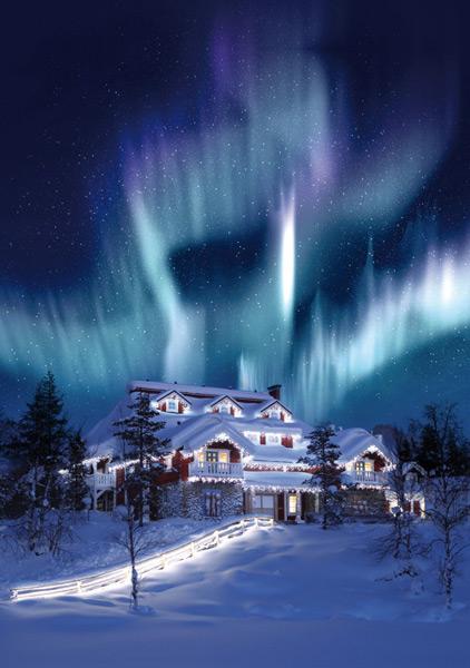 На фото: Вот он – сказочный дворец настоящего Деда Мороза