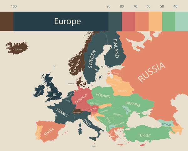 Страны Европы (фото: visualcapitalist.com)