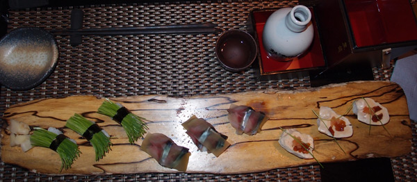 "Токио. Сет ниндзя-суши в ресторане ""Ninja"""