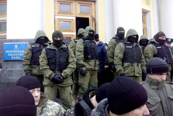Милиция рассказала, что за бойцы в оливковой форме были задействованы 6 декабря у здания Винницкой ОГА