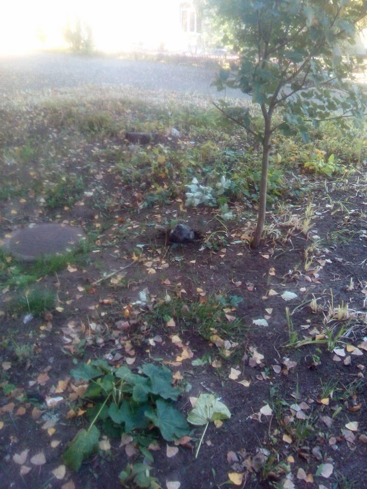 Фрагменты упавшей ракеты в Лисичанске