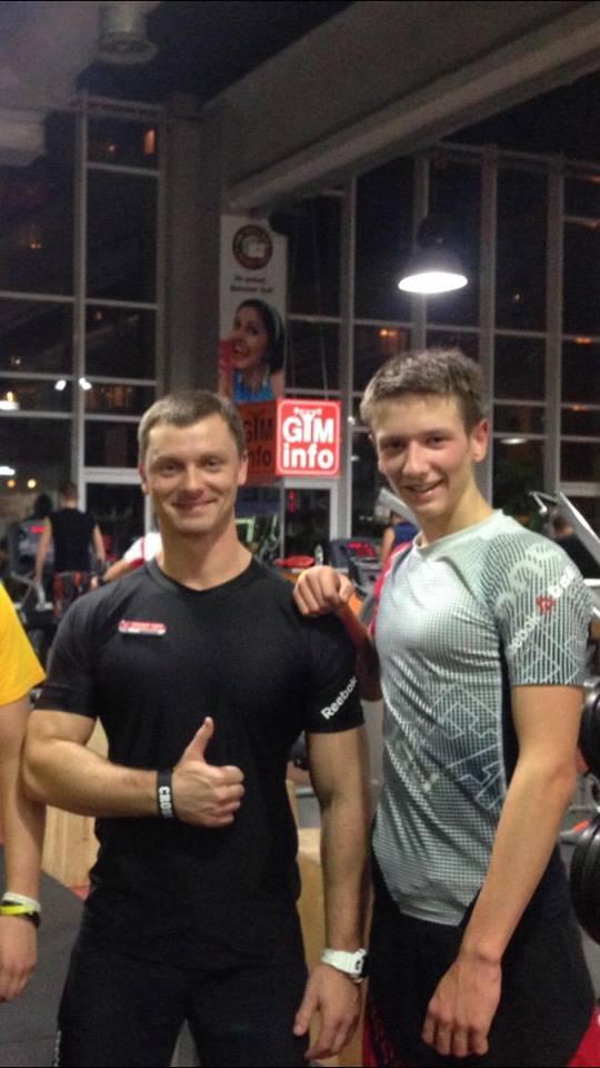 Тренер Михаила и Михаил до аварии / фото Facebook Сергея Ращенко