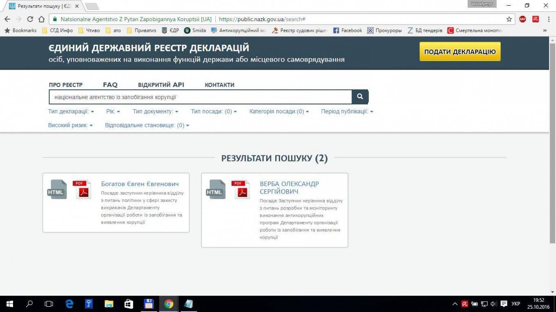 Корчак: Проблемы се-декларациями появились повине хостинг-провайдера