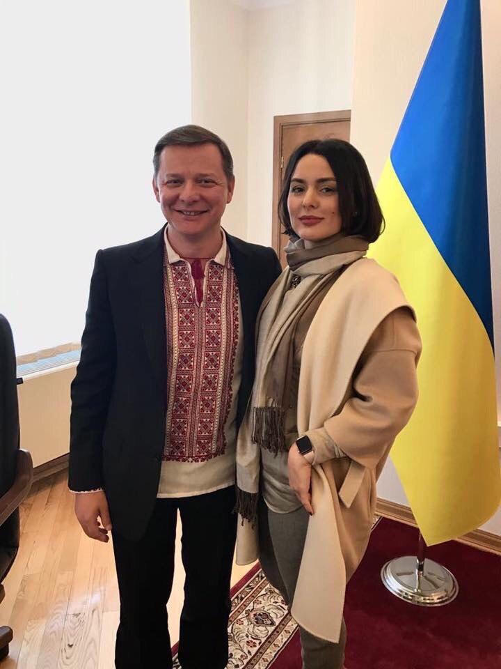 Валерия Заружко с Олегом Ляшко