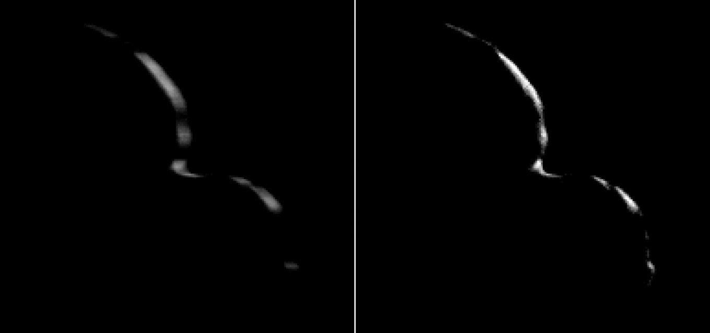 Двойной полумесяц Ультима Туле (2014 MU69). NASA/Johns Hopkins University