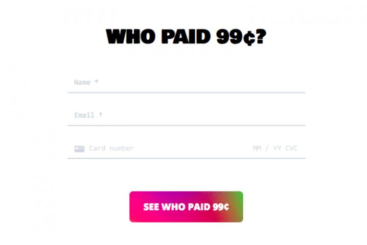 Вебсайт «Кто заплатил 99 центов?»