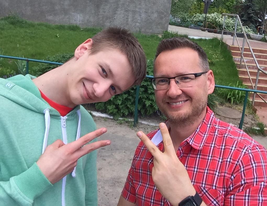 Михаил и Сергей Ращенко до аварии / фото Facebook Сергея Ращенко