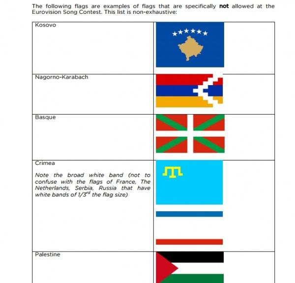 НаЕвровидении запретили крымскотатарский флаг