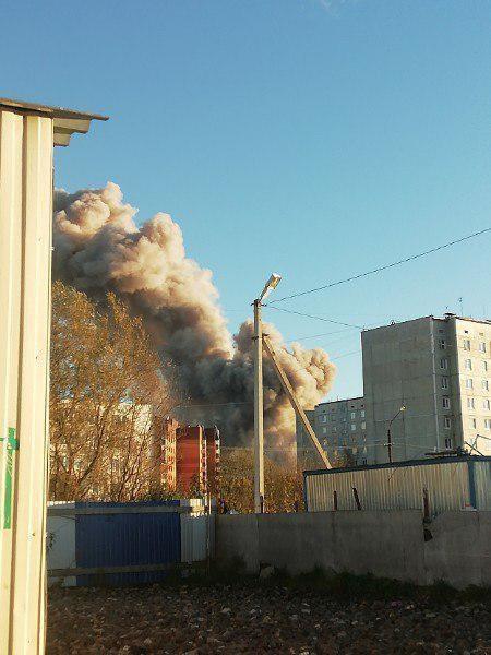 Взрыв на пиротехническом заводе в России