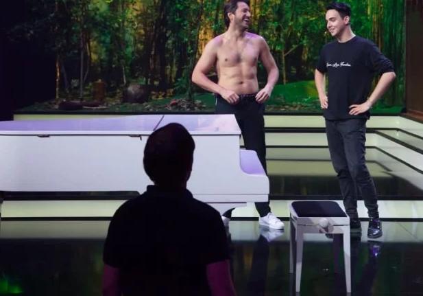 Сергей Притула продемонстрировал голый торс