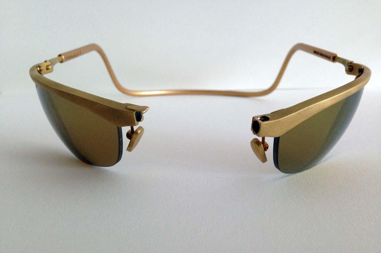 очки золотые фото ней