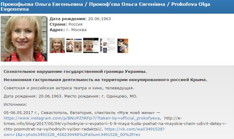 Данные актеров Майкова иПрокофьевой внесли вбазу «Миротворца»