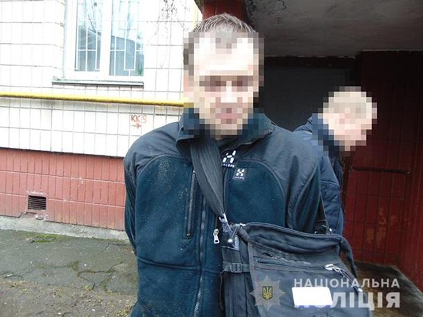 В Киеве задержали мужчину с гранатами в рюкзаке