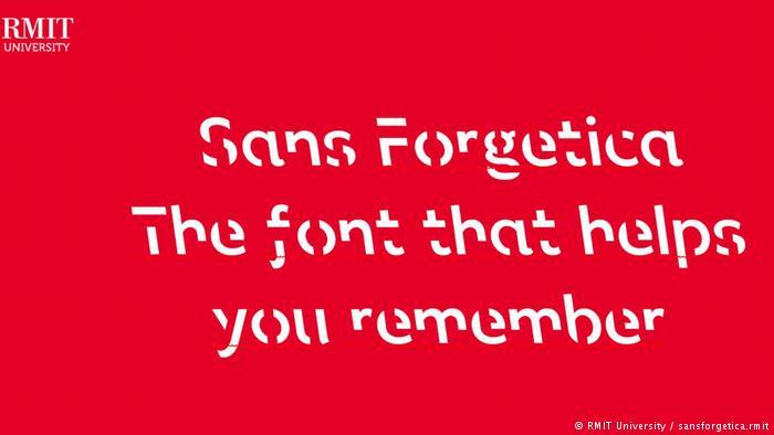 Специальный шрифт, чтобы лучше запомнить текст