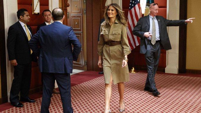 Меланья Трамп вновь поставила мужа в неудобное положение— Конфуз