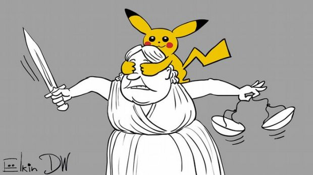 Карикатурист метко высмеял российское правосудие. ФОТО