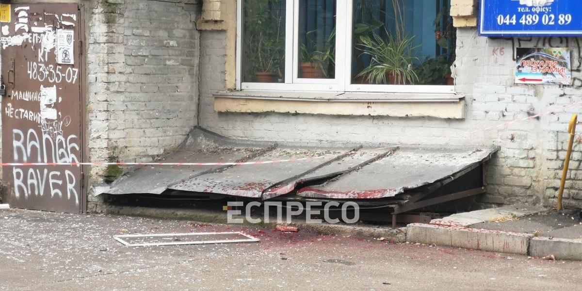 На Лукьяновке произошел взрыв