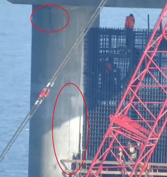 Керченский мост трещит: Опора треснула в 2-х местах