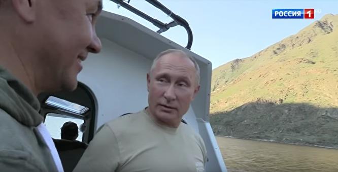 Отдых Путина на Саянах