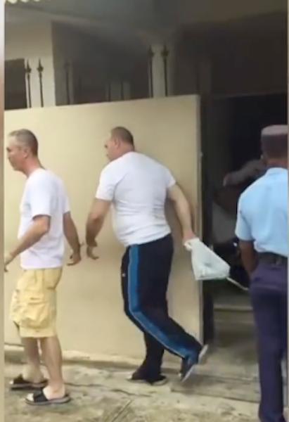 Кадр видео, зафиксировавший экс-депутата ВР Владимира Сальдо в Доминиканской республике