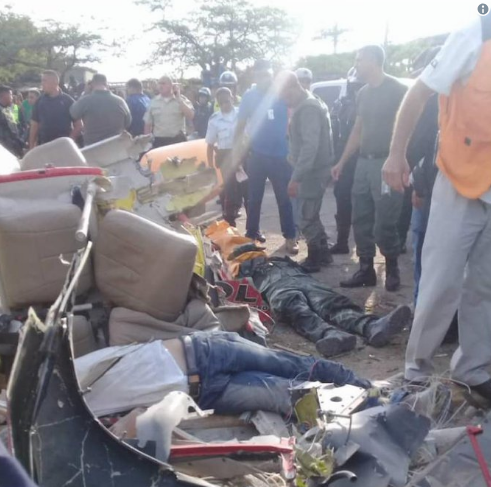 В Венесуэле разбился вертолет. Foto cortesía