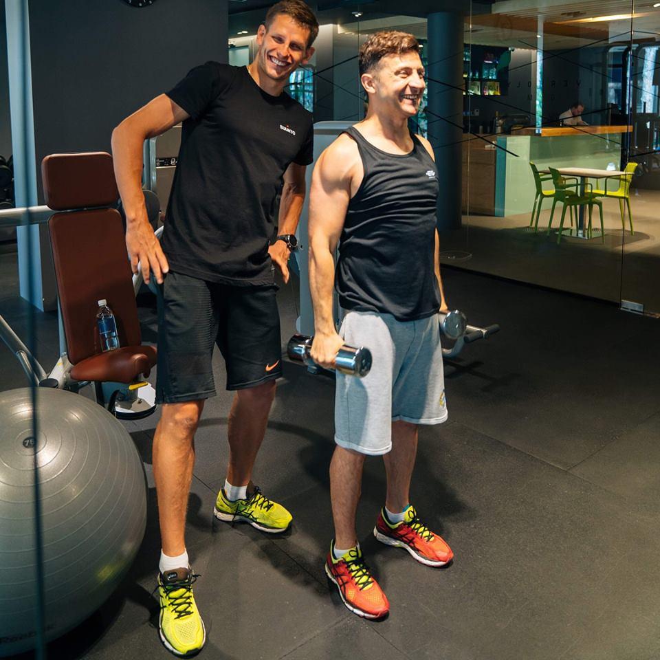 Хобби Владимира Зеленского - спортзал