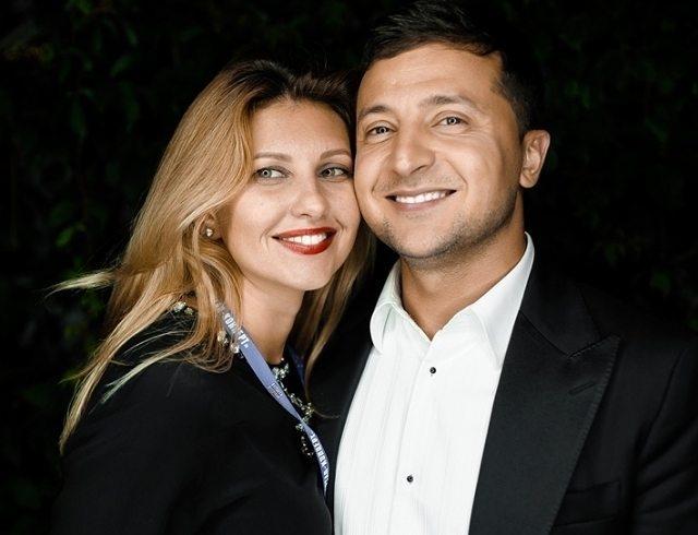 Владимир Зеленский с женой Еленой
