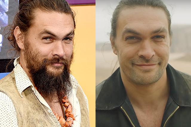 Звезда «Игры престолов» Джейсон Момоа неожиданно впервый раз за7 лет сбрил бороду