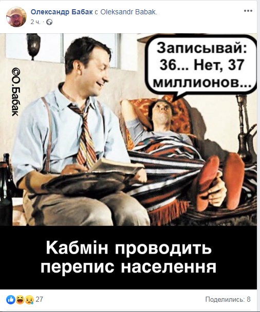 Населення України становить 37,289 млн осіб, - дані електронного перепису - Цензор.НЕТ 3282