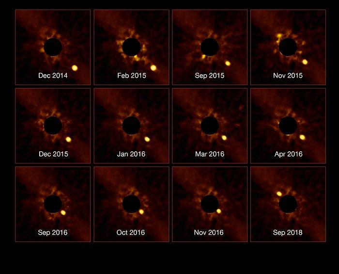 Серия изображений системы бета Живописца