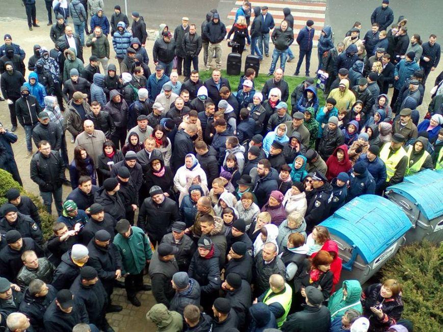 Около  горсовета Тернополя подрались «свободовцы»