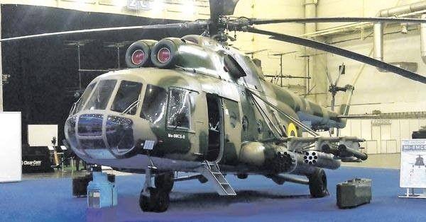 Ми-8 МСБ-В. Модернизированная версия позволяет использовать ракетное вооружение