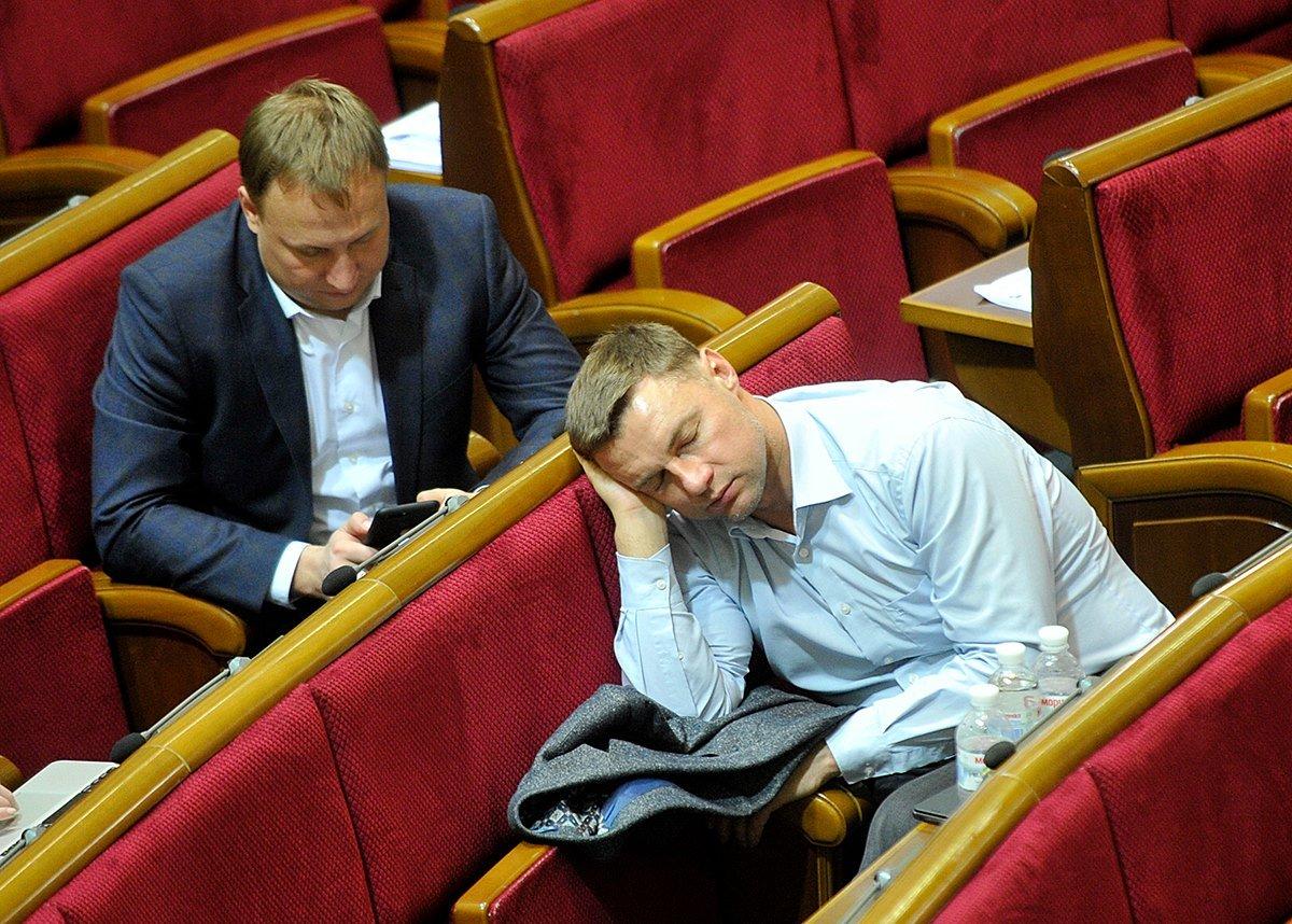 Народные депутаты в сессионном зале парламента. Источник фото – «Народна правда»