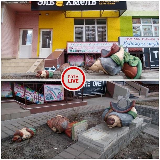 Акт вандализма в Киеве