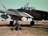 Німецький пілот Мессершмітта на аеродромі, Сталіно (зараз – Донецьк). Весна 1942 рік / Фото: memory.gov.ua