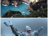 Статуя «Христос из Бездны» в бухте Сан Фруттуосо (Италия)