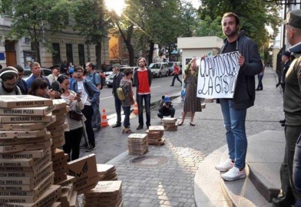Приговор Маркиву: у посольства Италии в Киеве протесты (фото)