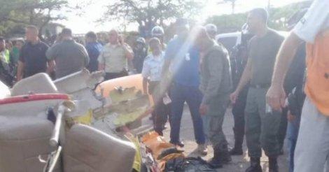 В Венесуэле разбился вертолет, на котором летел генерал Нацгвардии (фо