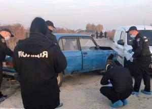 Под Киевом после ДТП устроили стрельбу (фото)