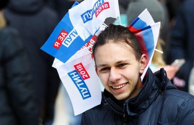 Опрос: практически  70 процентов  граждан России  готовы отдать собственный  голос за Владимира Путина