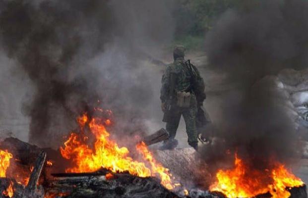 Вштабе АТО обвинили оккупантов: стреляли навсех направлениях